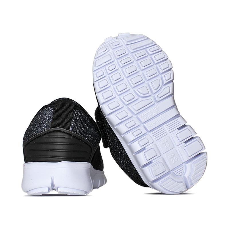 Slip on com elastico lurex preto 18 a 27 1