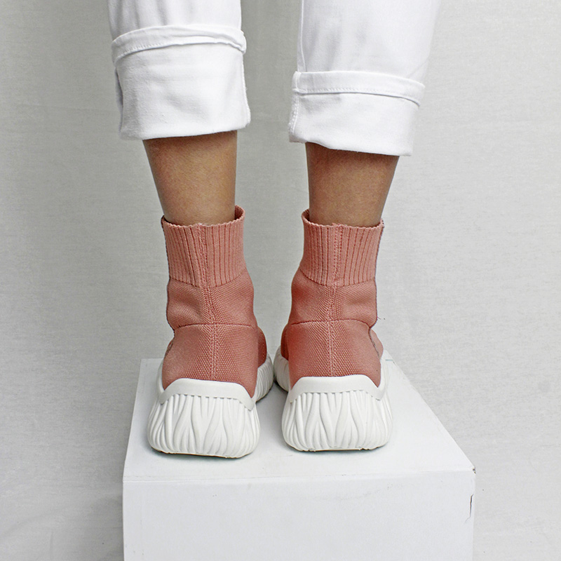 Bota knit convexo rose 2