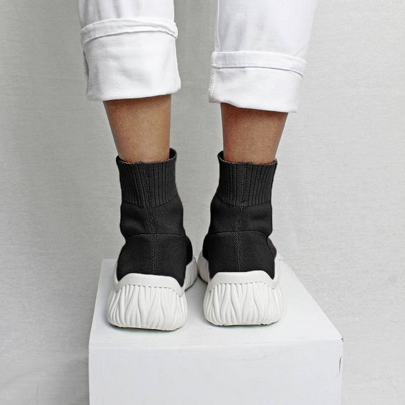 Sock boot knit preto 2