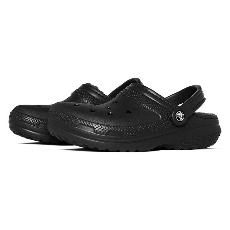 Crocs classic lined clog black black 2