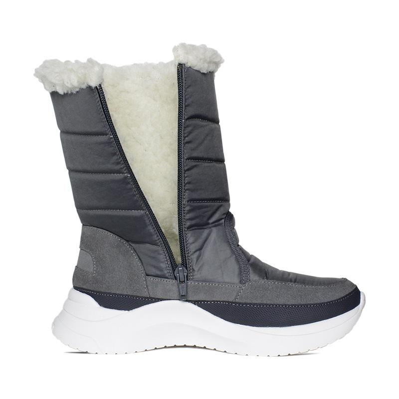 Snow puff boot nylon cinza 2