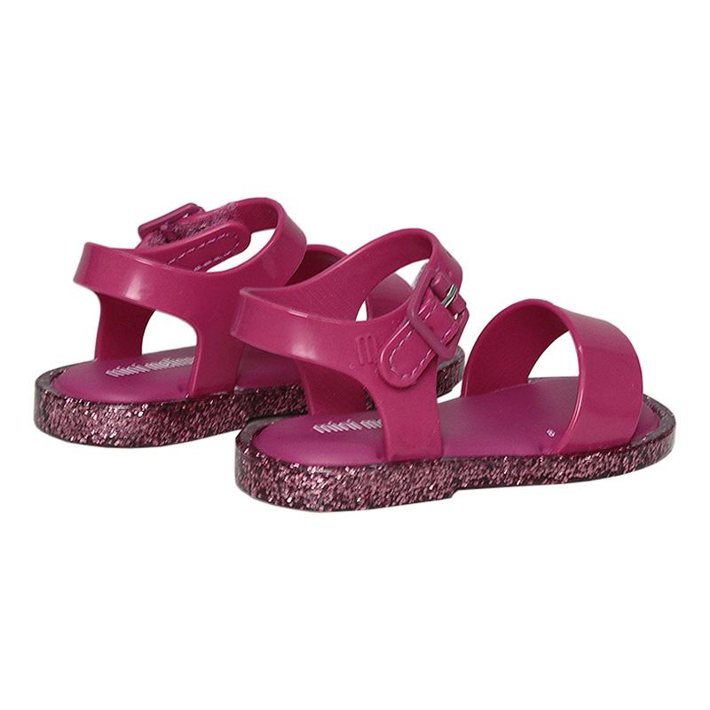 Mini mel mar sandal iv rosa barbie glitter 2