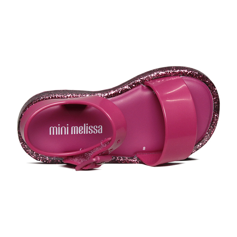 Mini mel mar sandal iv rosa barbie glitter 3