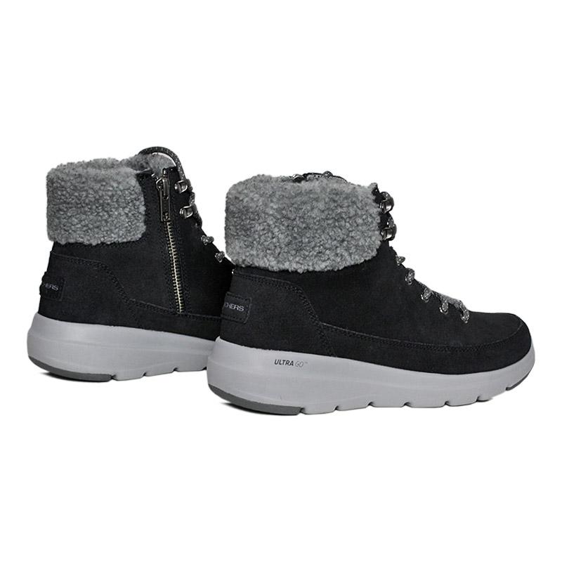 Skechers glacial ultra boot preto cinza 2