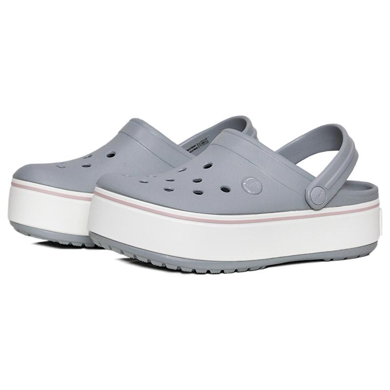 Crocband platform clog light grey rose 1
