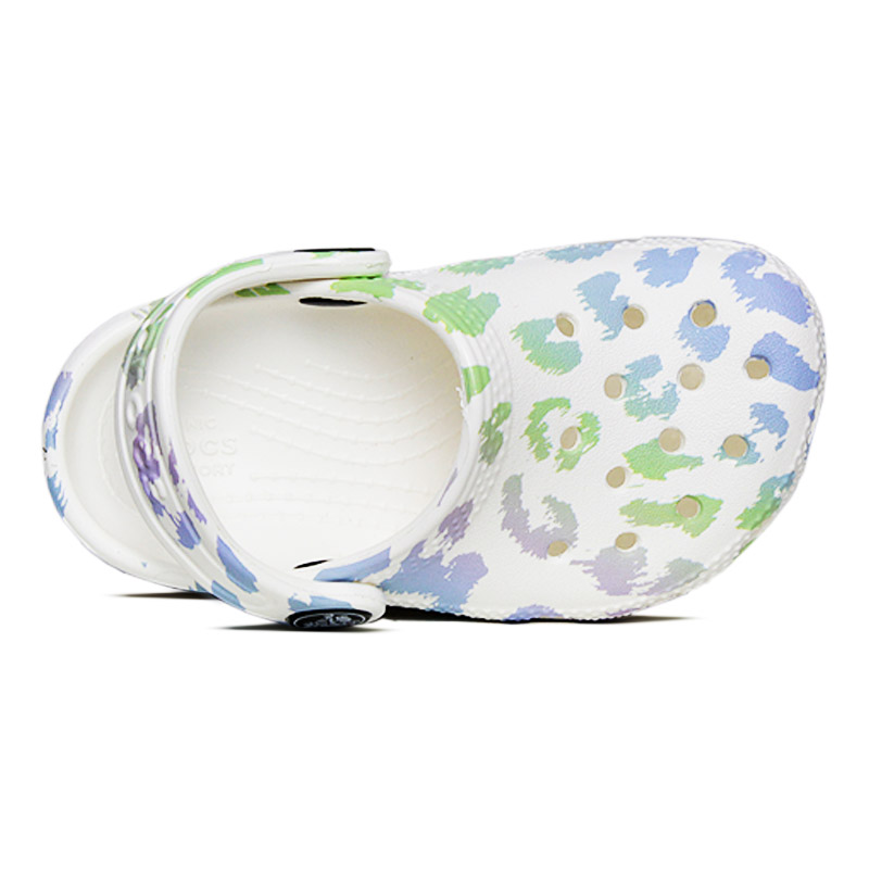 Crocs classic out of this world white leopard 2