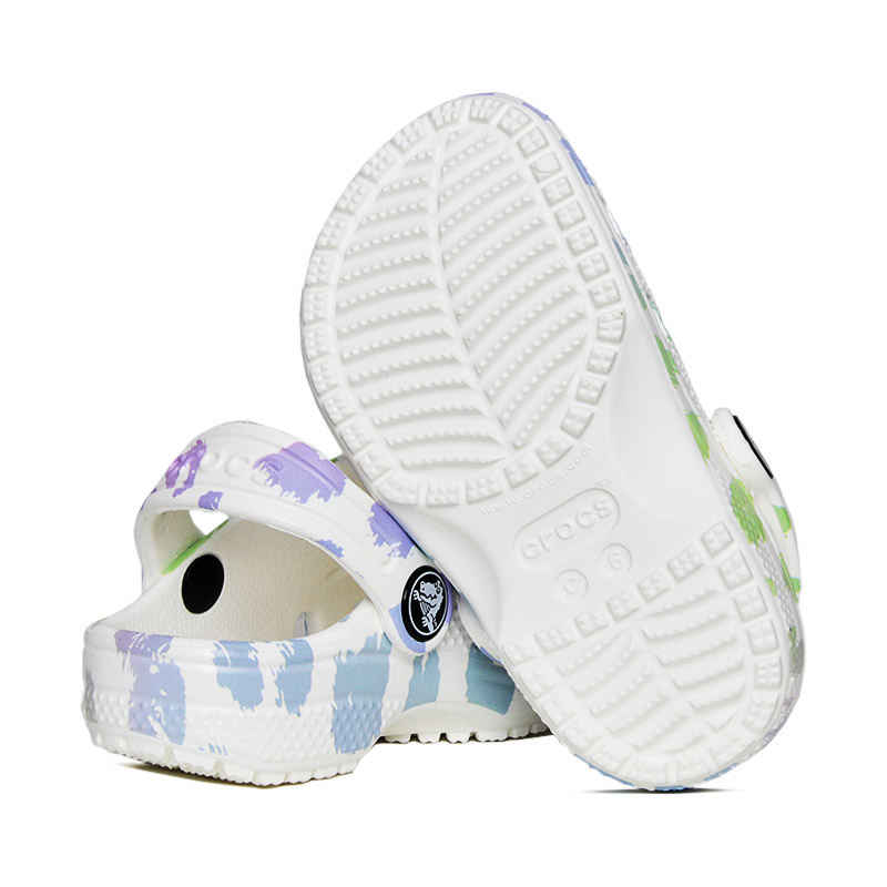 Crocs classic out of this world white leopard 3