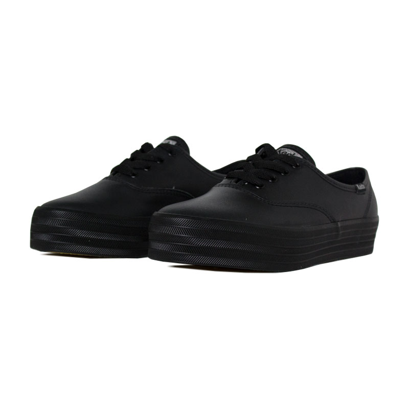 Keds triple leather preto preto 1