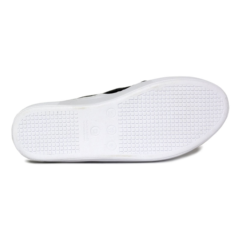 Slip on laco multipontos preto 3